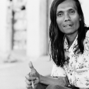 Thumb Up Of A Man With Long Hair @ Myanmar