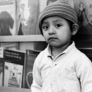 Cynical Kid In Front Of Books @ Mexico