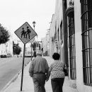 old couple and a street sign - 老夫婦と標識