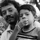 Father And His Son In Zocalo