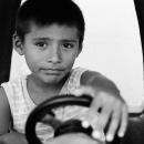 運転中の男の子