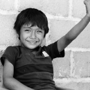 Boy Smiled And Raised His Arm @ Mexico