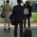 Businessman And Yamanote Line