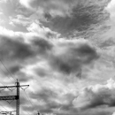 Overhead Lines And Clouds