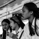 Schoolgirls On Passenger Ferry