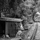 線路脇の掘っ立て小屋