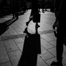 Silhouettes In Shinjuku-Dori
