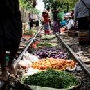 Vegetables On Railway Track