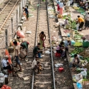 Three Men On Railway Track