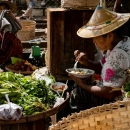Vendor Having Lunch