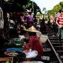 Woman Beside Railway Track