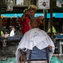 Barber With Bleached Hair