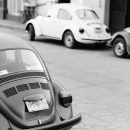 Some Beetles Parked By The Roadside