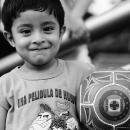 笑顔とサッカーボール