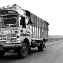 Truck On The Straight Road @ India