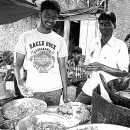 Two Men At The Food Stall @ India