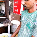 Man Making Samosa @ India