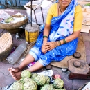 Woman Selling Artichokes @ India