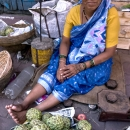 Woman Selling Custard Apples