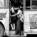 School Boy On The Bus @ India