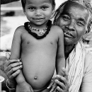 Stark-naked Boy And Grandma @ India