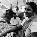 Smiling Woman In The Market @ India