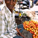 Tomato Seller With Tilaka @ India