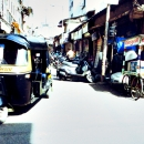Autorickshaw In The Street @ India