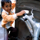 Boy And Autorickshaw @ India