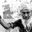 Long Beard And Many Bracelets @ India
