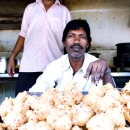 Man In A Fried Food Stand @ India