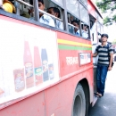 Passengers Of A Local Bus @ India