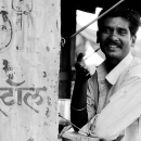 Man At A Stall @ India