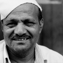 Man Wearing A Gandhi Cap @ India