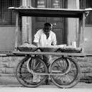Street Stall With Four Wheels