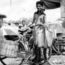 Peddler With A Bicycle @ India