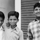 Furrow Between A Man And Two Boys @ India