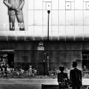 Woman And Man In Shimbashi