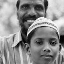 Boy And His Father Wearing Taqiyah