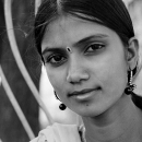 Young Woman With A Gorgeous Bindi @ India