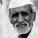 White Beard And Gandhi Cap