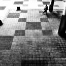 Woman, Squares And Pillars