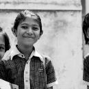 Three Girls Wearing Checkered Uniform @ India