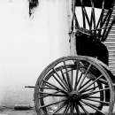 リクシャーの車輪
