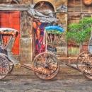 Three Wheels Of Parked Rickshaws @ India