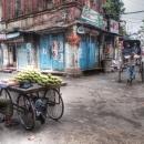 Mango Seller And Rickshaw