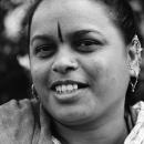 Woman Wearing Pierced Earrings @ India