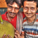 Two Men And A Jackfruit @ India