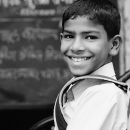 Boy Wearing A Backpack @ India