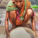 Rice, Strainer And Woman @ India
